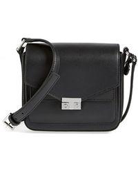 Tory Burch 'Mini T-Lock' Leather Crossbody Bag - Lyst