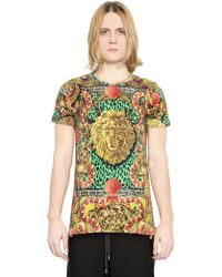 Versus  Printed Cotton Jersey T-Shirt - Lyst
