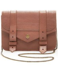Proenza Schouler Ps1 Large Chain Leather Wallet In Saddle - Lyst