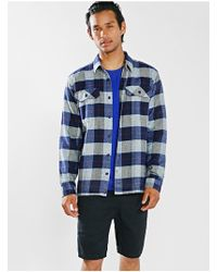 Patagonia Flannel Fjord Button Down Shirt - Lyst