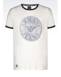Armani Jeans Print T-Shirt white - Lyst