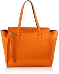 Ferragamo | Amy Large Soft Leather Tote | Lyst