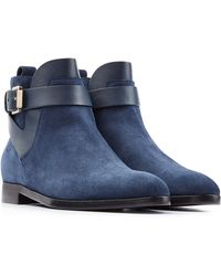 Sergio Rossi Suede-Leather Ankle Boots - Lyst