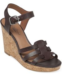 Lucky Brand Women'S Willows Platform Wedge Sandals - Lyst