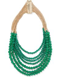 Rosantica - Raissa Gold-tone Beaded Quartz Necklace - Lyst