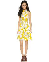 Diane von Furstenberg Tenner Dress - Eden Garden Simple Yellow - Lyst