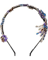 Marni - Blue Jewelled Headband - Lyst