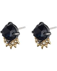 Alexis Bittar Blue Sapphire Cabochon Spike Crystal Earrings gold - Lyst