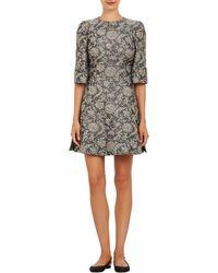 Dolce & Gabbana Metallic Cloqué Dress - Lyst