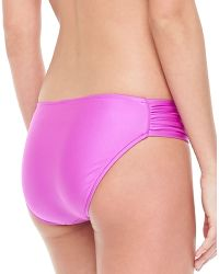 Seafolly Ruchedside Swim Bottom - Lyst