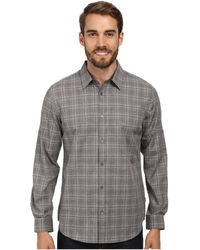 Calvin Klein Gingham Heathered Dobby Woven Shirt - Lyst