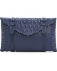 Reece Hudson - Bowery Oversized Clutch Blue Jean - Lyst