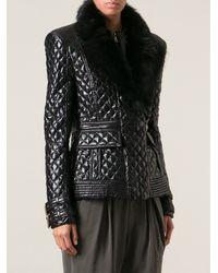Balmain Short Coat - Lyst