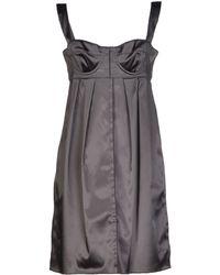 Dolce & Gabbana Gray Short Dress - Lyst