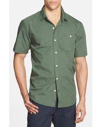 Volcom 'Everett' Short Sleeve Woven Shirt green - Lyst