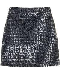 Topshop Womens Zip Boucle Pelmet Skirt  Black - Lyst