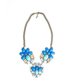 Missguided Rhiannon Crystal Cluster Statement Necklace Blue - Lyst