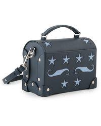 Holly Fulton - X Petek 1855 Navy & Blue Medium Pin Trunk Bag - Lyst