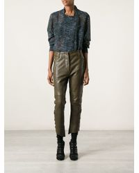 Isabel Marant Cropped Trousers - Lyst