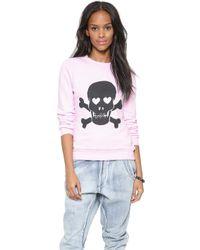 Zoe Karssen No Love Lost Sweatshirt - Lavender Fog - Lyst
