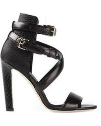 Brian Atwood Buckle Sandals - Lyst