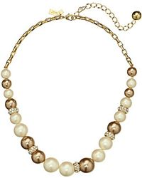 Kate Spade Parlour Pearls Small Collar Necklace - Lyst