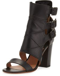 Laurence Dacade Triple Buckle Leather Bootie - Lyst