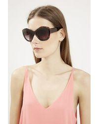 Topshop Cara Cateye Sunglasses black - Lyst