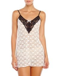 In Bloom Lace Chemise - Lyst