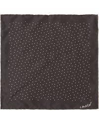 Lanvin - Polka Dot Silk Pocket Square - Lyst
