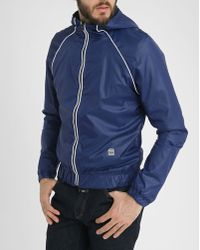 G-Star RAW Midder Hdd Blue Nylon Jacket - Lyst