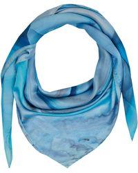 Weston - Sky Blue Agate Silk Scarf - Lyst