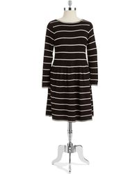 Eliza J Plus Striped Sweater Dress - Lyst