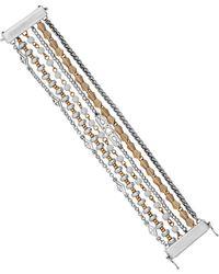Lucky Brand - Two-tone Mult-row Bracelet - Lyst