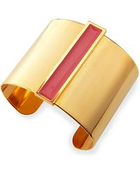 Tuleste - Enamel Channel Cuff Bracelet - Lyst