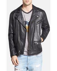 Obey Leather Moto Jacket - Lyst