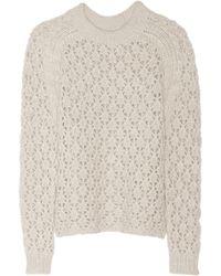 Theyskens' Theory Kisha Openknit Merino Wool Sweater - Lyst