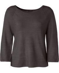 Iris Von Arnim Silk Sweater Desiree purple - Lyst