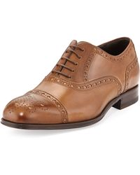 Boss by Hugo Boss Capetis Leather Brogue Oxford Shoe - Lyst