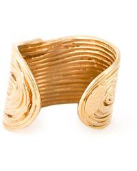 Gas Bijoux - Wide Wave Ring - Lyst