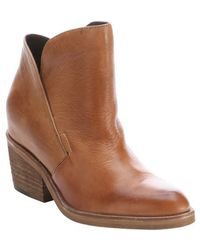 Dolce Vita Tan Leather Teague Cowboy Ankle Booties - Lyst
