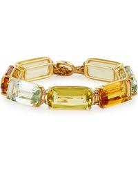 Goshwara - Gossip Cushion-cut 18k Gold Bracelet - Lyst