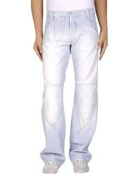 Met Denim Pants blue - Lyst