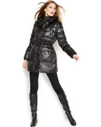 Michael Kors  Hooded Utility Puffer Coat - Lyst