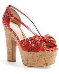 Moschino 'Bandana' Platform Sandal - Lyst