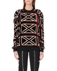 Jean Paul Gaultier Union Jack Velvet Sweatshirt Multi - Lyst