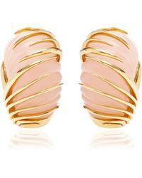 Simon Teakle - Vintage Van Cleef & Arpels 18K Gold And Rose Quartz Earrings - Lyst
