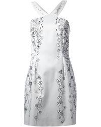 Matthew Williamson Floral Print Mini Dress - Lyst