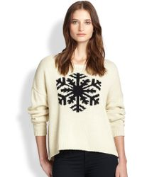 Townsen Slouched Snowflake Intarsia Sweater - Lyst