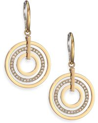 Michael Kors Brilliance Statement PavÉ Nested Circle Drop Earrings gold - Lyst